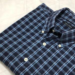 Men's Nautica Short Sleeve Plaid Shirt Size L